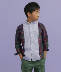 URBAN RESEARCH DOORS(Kids)/DENIM DUNGAREE スイスコットンロンストワークシャツ(KIDS)/502873158