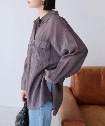 and Me.../シアー長袖オーバーサイズシャツ ブラウス/503013728