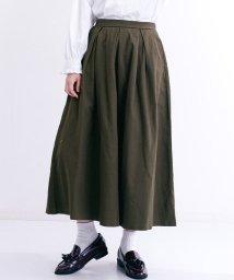 merlot/タック入りコットンロングスカート/503016207