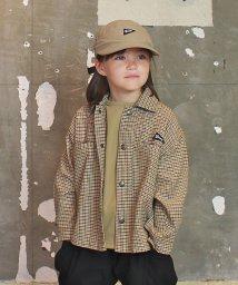 GROOVY COLORS/ツイルチェック ワイドシャツ ジャケット/502967310