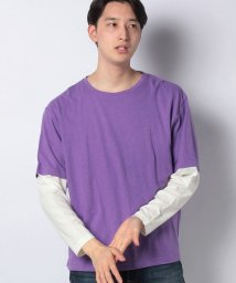 URBAN RESEARCH OUTLET/【WAREHOUSE】袖切替リネン混ロンTEE/502971746
