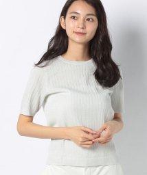 Leilian/半袖ニットプルオーバー/502981670