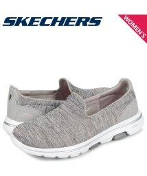 SKECHERS/スケッチャーズ SKECHERS ゴーウォーク 5 スリッポン スニーカー レディース GO WALK 5 HONOR グレー 15903/503017930