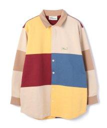 GARDEN/DROLE DE MONSIEUR /ドロール ド ムッシュ/Fleece Color Block Shirt/カラーブロックシャツ/503019042