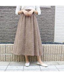 MODE ROBE/レオパードフレアスカート/503021806
