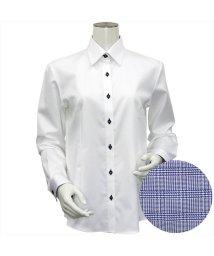 BRICKHOUSE/ウィメンズシャツ 長袖 形態安定 レギュラー衿 ドット風織柄(透けにくい白)/503021861