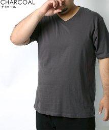 MARUKAWA/大きいサイズ 無地 パックT Vネック 半袖Tシャツ/502611768