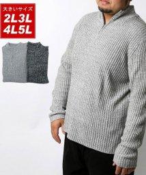 MARUKAWA/大きいサイズ アクリル ハーフジップセーター/502611770