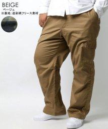 MARUKAWA/大きいサイズ 裏フリース カーゴ イージーパンツ/502611774