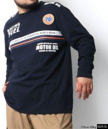 MARUKAWA/【76Lubricants】セブンティーシックス 大きいサイズ レインボーパネル 長袖Tシャツ/502611804