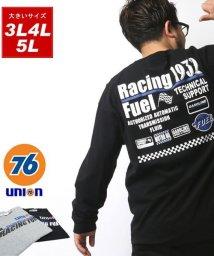 MARUKAWA/【76Lubricants】セブンティーシックス 大きいサイズ フラッグ 長袖Tシャツ/502611805