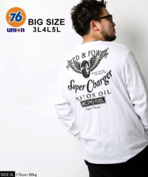 MARUKAWA/【76Lubricants】セブンティーシックス 大きいサイズ ウイング タイヤ 長袖Tシャツ/502611807