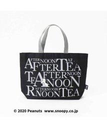 Afternoon Tea LIVING/PEANUTS/スリットポケット付きロゴバッグS/502957865