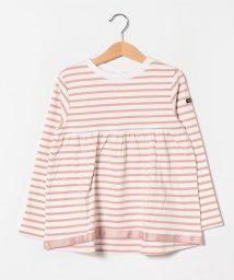 petit main/ボーダーAラインTシャツ/502991292