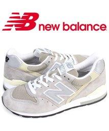 newbalance/ニューバランス new balance 996 スニーカー メンズ Dワイズ MADE IN USA グレー M996GY/503003486
