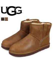 UGG/UGG アグ ムートンブーツ メンズ クラシック ミニ MENS CLASSIC MINI STITCH 1008621 レザー/503018117