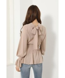 rienda/Back Ribbon Knit TOP/503022598