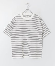 URBAN RESEARCH DOORS/Traditional Weatherwear COTTON BOARDER KNIT T/503024525