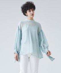 LANVIN en Bleu/デザインカフス楊柳ブラウス/502908733