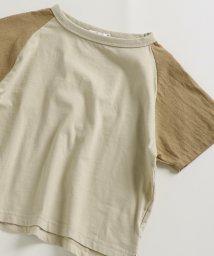 pairmanon/リネンタッチ ユニセックス ラグラン 袖切り替え 半袖 Tシャツ カットソー/502962259