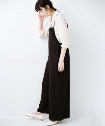 haco!/カジュアル派の大人にぴったりな麻混素材のシックなサロペットパンツ by que made me/502999666