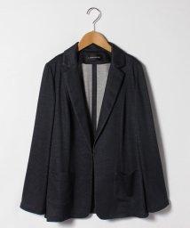 LAPINE ROUGE/【大きいサイズ】メランジリバー テーラードジャケット/503007365