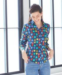 NARA CAMICIE/カラフルハートプリントシャツ/503013940