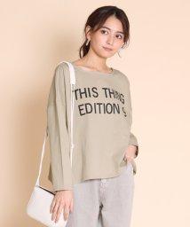 SCOTCLUB/Dignite collier(ディニテ コリエ) 2WAYギャザリングロゴTシャツ/503019426