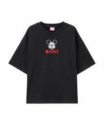 MAC HOUSE(kid's)/Disney ディズニー ガールズ 刺繍ミッキ-とミニーTシャツ 326107093/503026301