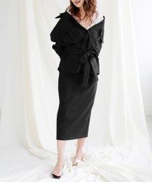 Julia Boutique/2点セット・オーバーシャツ&ペンシルスカートセットアップ/510683 トップス レディース 春 シャツ 長袖 ライトアウター オーバーサイズ スカート ロング/503026393