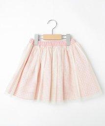 SHOO・LA・RUE(Kids) /【90-130cm】リバーシブルチェックチュールスカート/503026642