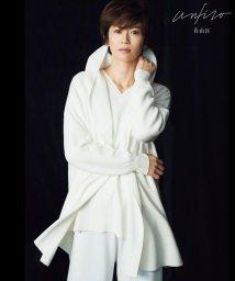 JIYU-KU(LARGE SIZE)/【Unfilo】コットンブレンドニット フーディーカーディガン(検索番号Z43)/503026687