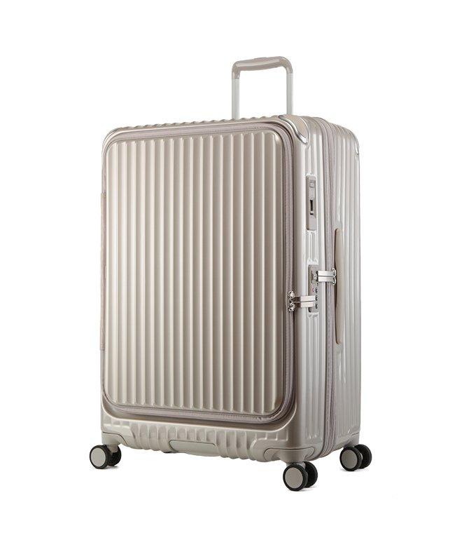 カバンのセレクション カーゴ エアレイヤー スーツケース LLサイズ 100L フロントオープン ストッパー付き 軽量 CARGO cat738ly ユニセックス ゴールド フリー 【Bag & Luggage SELECTION】