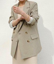 NOBLE/ダブルブレストジャケット(カーキ)◆/503027781