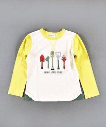 Noeil aime BeBe/天竺スコッププリント長袖Tシャツ/502948915