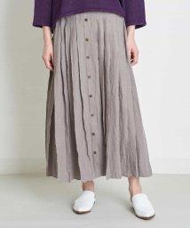 GIANNI LO GIUDICE/リネン東炊きスカート/503028123