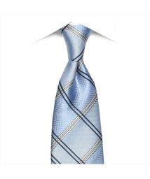 BRICKHOUSE/ネクタイ 絹100% サックス系 チェック柄 ビジネス フォーマル/503028306