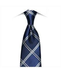 BRICKHOUSE/ネクタイ 絹100% ブルー系 チェック柄 ビジネス フォーマル/503028308