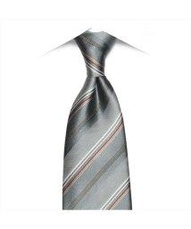 BRICKHOUSE/ネクタイ 絹100% グレー系 ストライプ柄 ビジネス フォーマル/503028315
