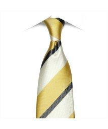 BRICKHOUSE/ネクタイ 絹100% イエロー系 ストライプ柄 ビジネス フォーマル/503028316