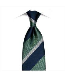 BRICKHOUSE/ネクタイ 絹100% グリーン系 ストライプ柄 ビジネス フォーマル/503028318