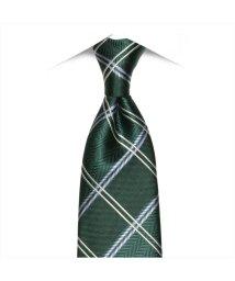 BRICKHOUSE/ネクタイ 絹100% グリーン系 チェック柄 ビジネス フォーマル/503028319