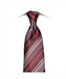 BRICKHOUSE/ネクタイ 絹100% エンジ系 ストライプ柄 ビジネス フォーマル/503028322
