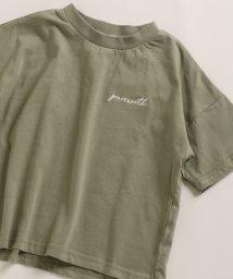 pairmanon/ビックシルエット 刺繍 プリント ベーシック 半袖 ワイド Tシャツ カットソー/502962256
