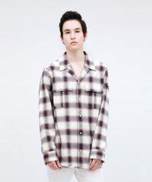 LOVELESS MENS/【Safari5月号掲載】アームスカル オンブレーチェックシャツ/502967419