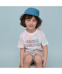 b-ROOM/ムラ染めプリントTシャツ/502999304