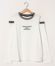 Lovetoxic/ロゴオープンショルダーTシャツ/502999313