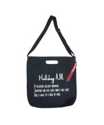 Holiday A.M./バッグ メンズ レディース ショルダーバッグ トートバッグ 2way 布 キャンバス 帆布 ロゴ A4/503025888