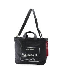 Holiday A.M./バッグ トート ショルダー 2WAY メンズ レディース 大きいサイズ フタ付き 布 帆布 HolidayA.M./503025897