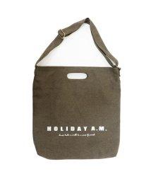 Holiday A.M./バッグ ショルダーバッグ トートバッグ 2WAY  レディース メンズ 布 キャンバス 帆布 A4 HolidayA.M./503025926
